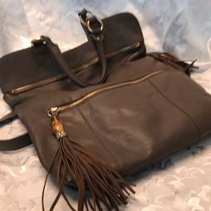 NWOT Sorial New York gray leather purse